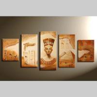 5 Leinwandbilder ÄGYPTEN (2) 150 x 70cm Handgemalt