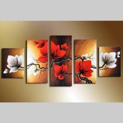 5 Leinwandbilder BLÜTE (3) 150 x 70cm Handgemalt