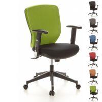 Bürostuhl SOFIA Schwarz-Apfelgrün aus Netzstoff