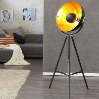 Stehlampe SPOT Schwarz-Gold 160cm Höhe verstellbar