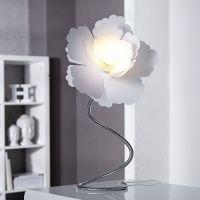 Tischlampe FLORA Weiß 55cm Höhe verstellbar