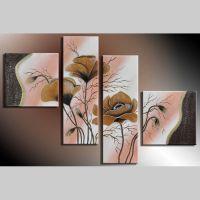 4 Leinwandbilder MOHN (5) 100 x 70cm Handgemalt