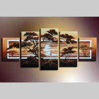 5 Leinwandbilder AFRIKA Life (2) 150 x 70cm Handgemalt