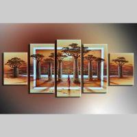 5 Leinwandbilder AFRIKA Life (3) 150 x 70cm Handgemalt