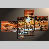 4 Leinwandbilder GIRAFFE (1) 140 x 80cm Handgemalt