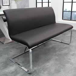 Sitzbank ENZO Schwarz aus Kunstleder 130cm