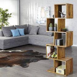 Regal AGRA Sheesham massiv Holz gewachst 150cm x 50cm
