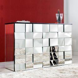 Sideboard MULTIPLEX mit Facettenschliff & 44 Spiegelflächen 130cm