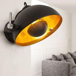 Wandlampe SPOT Schwarz-Gold 30cm Ø verstellbar