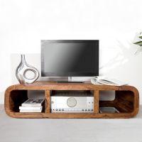 TV-Tisch DAIPUR Sheesham massiv Holz gewachst 100cm