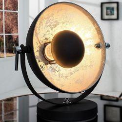 Tischlampe SPOT Schwarz-Silber 40cm Höhe