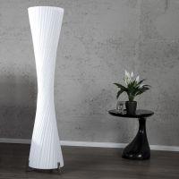 XXL Stehlampe LOOP Weiß Kegelform Rund 200cm Höhe