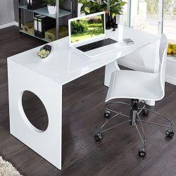 Schreibtisch KENSINGTON Weiß Hochglanz 120cm