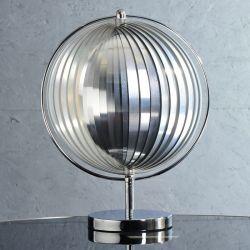 Tischlampe BOLA Chrom 42cm Höhe