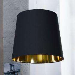 XL Hängelampe GIANT Schwarz-Gold 55cm Ø
