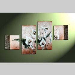 4 Leinwandbilder CALLAS (1) 80 x 50cm Handgemalt