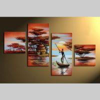 4 Leinwandbilder AFRIKA Mann (2) 80 x 50cm Handgemalt