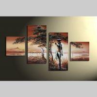 4 Leinwandbilder AFRIKA Frau (1) 80 x 50cm Handgemalt