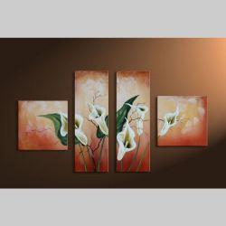 4 Leinwandbilder CALLAS (2) 100 x 60cm Handgemalt