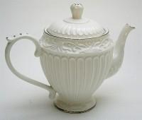 Teapot pearl white