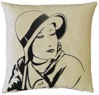 Sequoia Jacquard Kissen Marlene Dietrich white