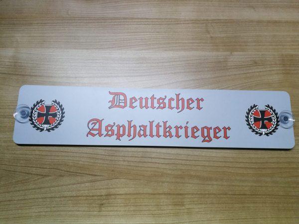 """LKW Namensschild """"Deutscher Asphaltkrieger"""""""