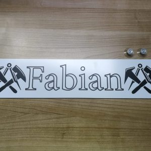 """LKW Namensschild """"Fabian"""""""