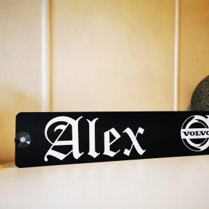 """LKW Namensschild """"Alex"""""""