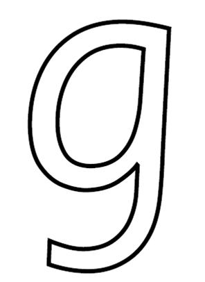 Letter g formation