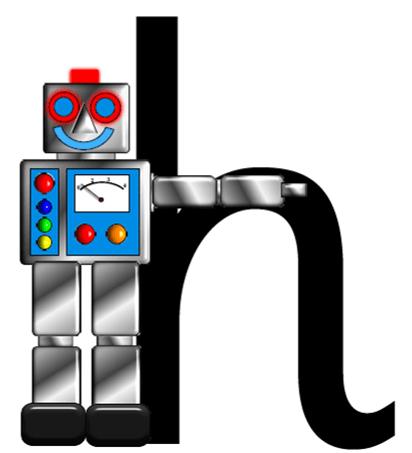 Robot letter h