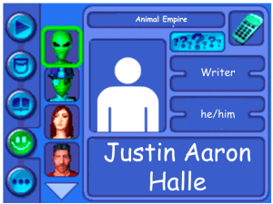 Performer card for Justin Aaron Halle