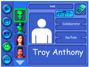 Performer card for Troy Anthony, collaborator