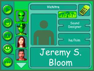Performer card of Jeremy S. Bloom, Sound Designer