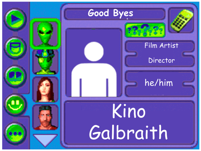 Performer card of Kino Galbraith, Film Artist and Director