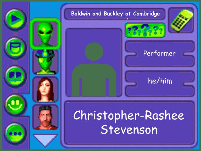 Performer card of Christopher-Rashee Stevenson, performer