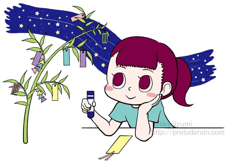 年間行事イラスト)7月)七夕