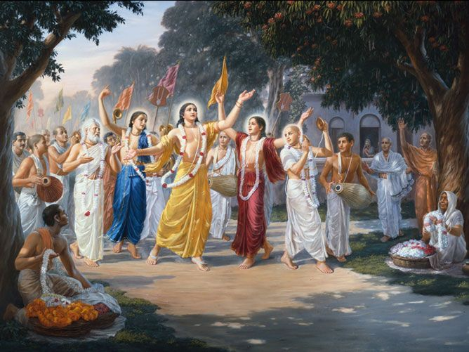 Mahamantra chanted in sankirtan by Sri Chaitanya Mahaprabhu