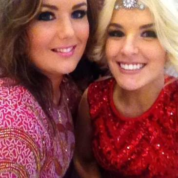 Image 3: Rachel and her friend Lynsey McGuinness at her brothers wedding.