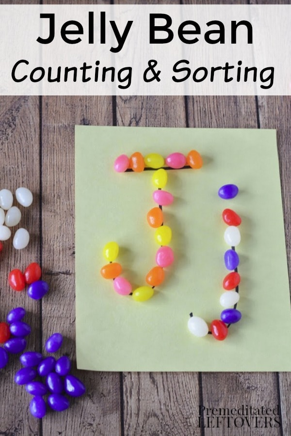 Jelly Bean Counting and Sorting Activity for Kids