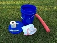 how to make a portable toilet out of a bucket