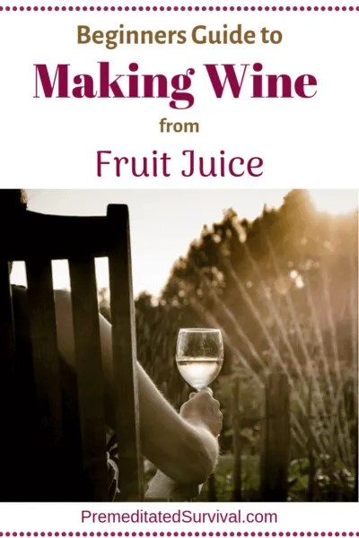 making wine from fruit juice