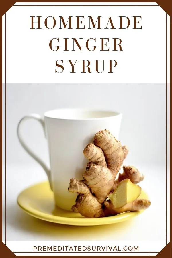 homemade ginger syrup