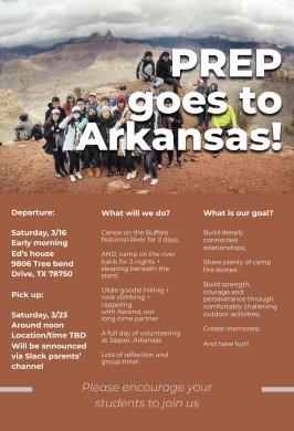 program arkansas spring break poster 2019