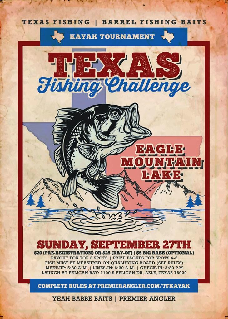 Texas Fishing Kayak Tournament_Eagle Mountain Lake