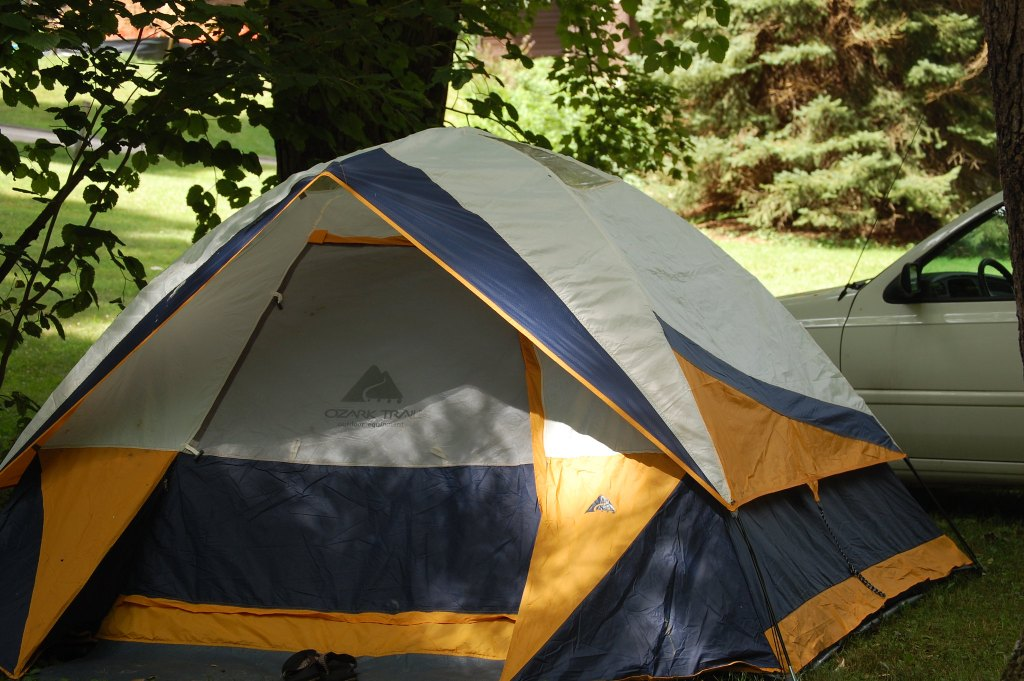 Tent Camping in Yard