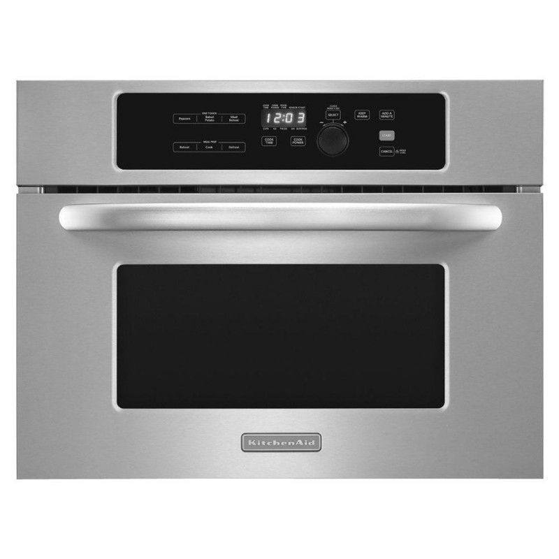 kitchenaid 1 4 cu ft built in microwave in stainless steel