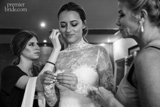 Bride prepares for her wedding