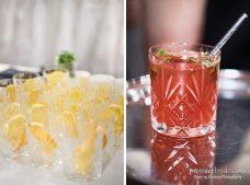 Signature wedding drink pomegranate ginger palomas
