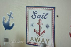 Sail Away theme wedding decorations