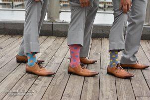 Unique groom's socks